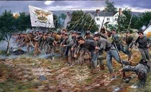 cadets from the Virginia Military Institute fight at the Battle of New Market, Virginia