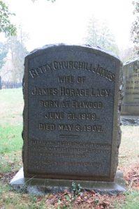 Betty Churchill Lacy grave
