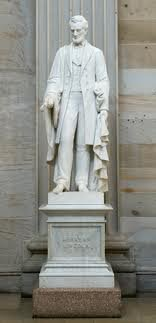 Abraham Lincoln monument sculpted by Vinnie Ream