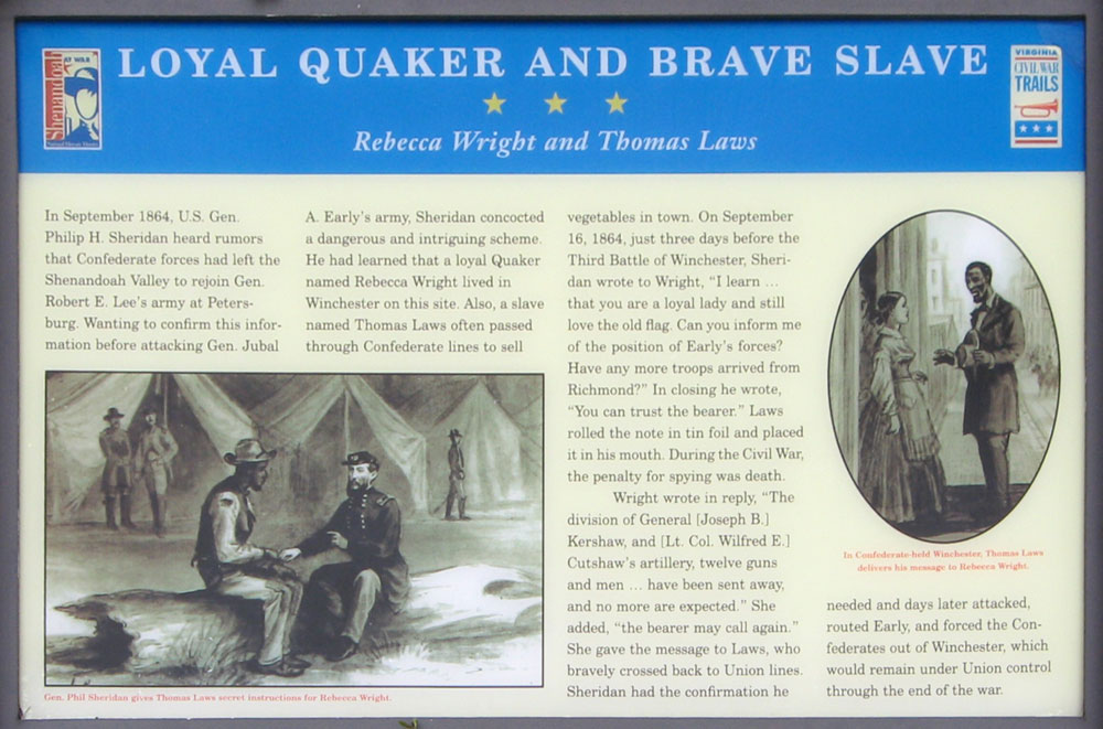 Loyal Quaker and Brave Slave, Rebecca Wright and Thomas Laws