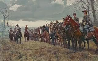 Civil War General John Hunt Morgan and his troops