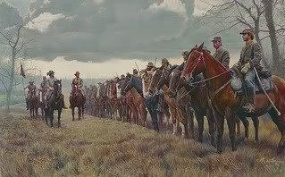 Civil War General John Hunt Morgan and his troops