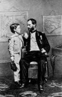 General William Tecumseh Sherman and his son