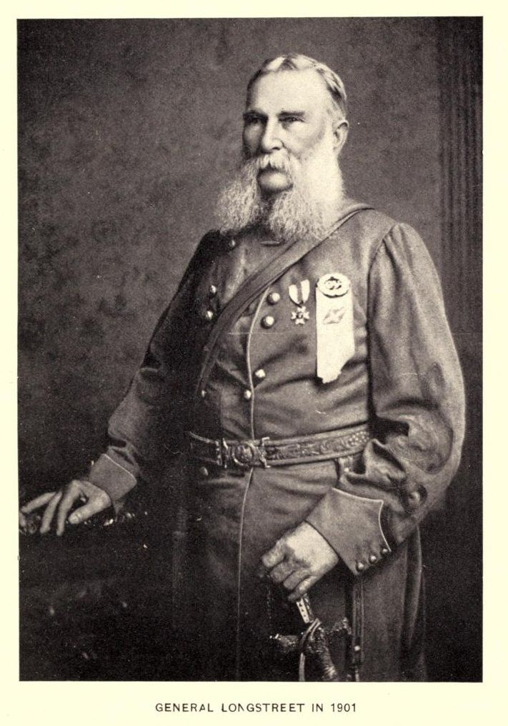 photograph of Confederate Lieutenant General James Longstreet in uniform