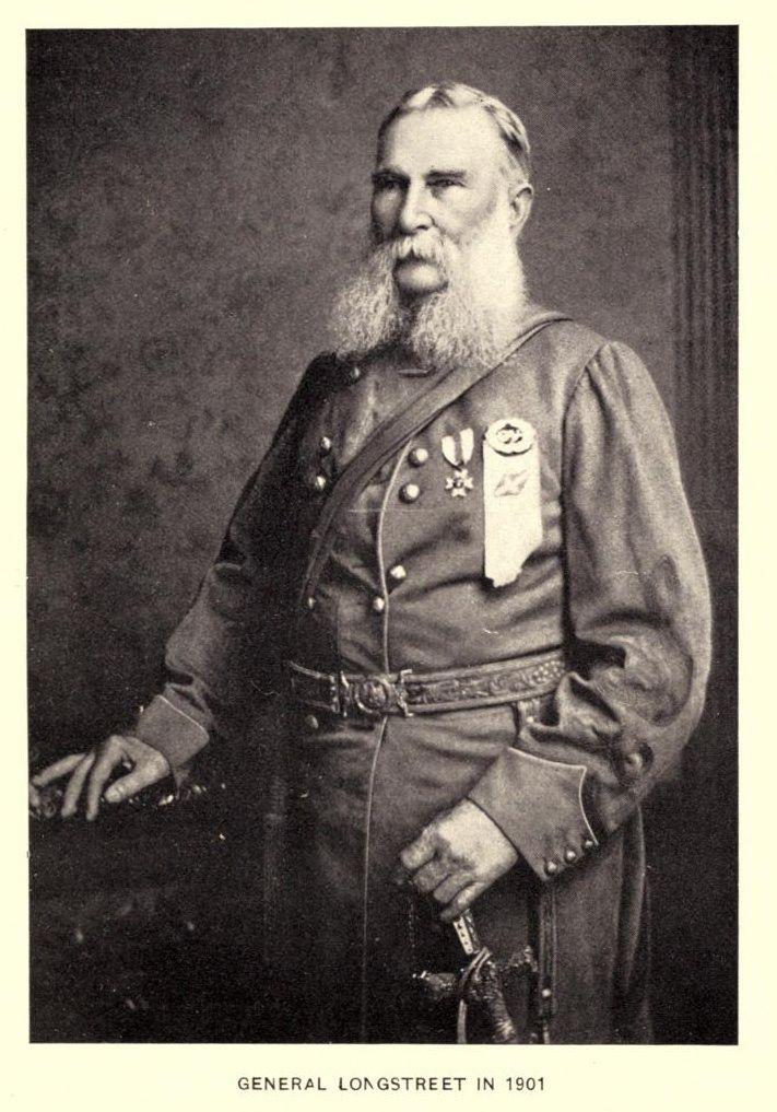 photograph of Confederate Lieutenant General James Longstreet in uniform