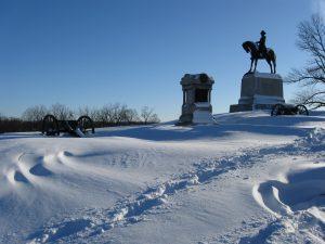 General Winfield Scott Hancock equestrian statue at Gettysburg, Pennsylvania