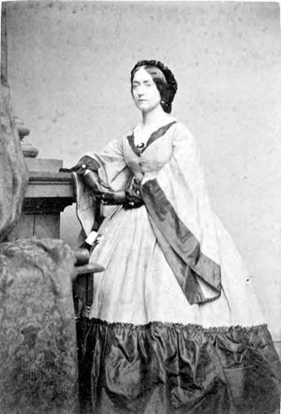 Mrs. Almira Russell Hancock, circa 1860s