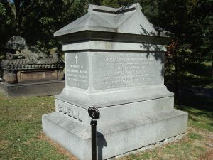 Grave of confederate general General Buell and Margaret Buell