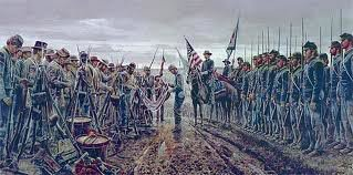 painting depicting the Surrender of the Army of Northern Virginia at Appomattox
