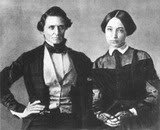 photograph of Jefferson and Varina Davis at their wedding