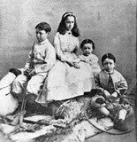 photo of the children of Jefferson and Varina Davis while they were in exile in Canada
