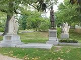 photograph of the graves of Jefferson and Varina Davis and their daughter Winnie