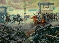 Mort Kunstler painting of Grierson's Raid in the Civil War