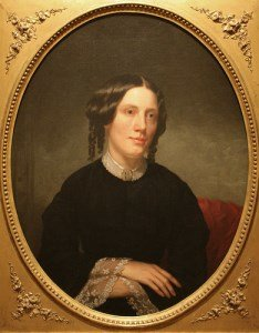 painting of American author Harriet Beecher Stowe