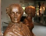 bronze statue of abolitionist and women's rights advocate, Martha Coffin Wright