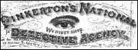 logo for Pinkerton's Detective Agency where Kate Warne became the first female detective in the United States