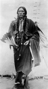 son of Indian captive Cynthia Ann Parker and last free roaming Comanche chief