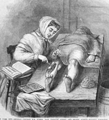 illustration of a woman doctor performing surgery