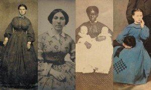 photographs of five Civil War women