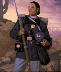 portrait of Cathay Williams, female Buffalo Soldier