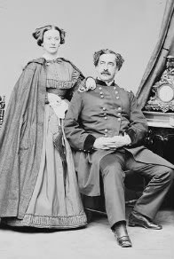 photograph of Mary Hewitt Doubleday and General Abner Doubleday