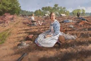 painting of Confederate nurse Fannie Beers