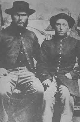 Jennie Hodgers posing as Albert D. J. Cashier in the Civil War