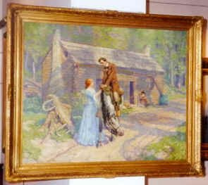 painting of lincoln saying goodbye to ann rutledge