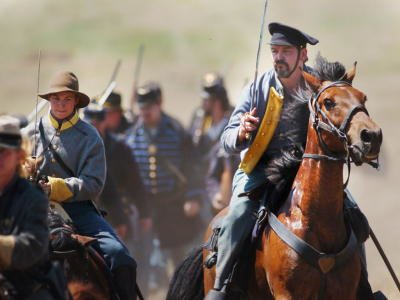 Evening Sun Photo by Brett Berwager A confederate Cavalry soldier