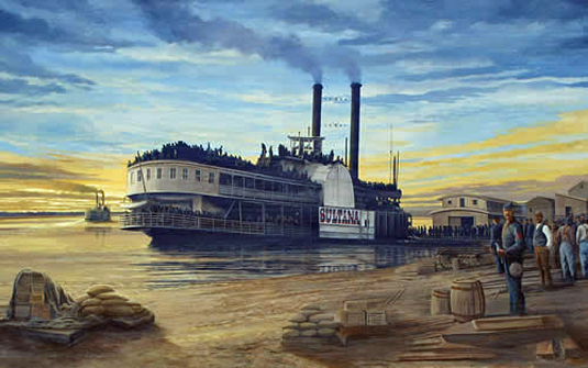 Sultana Steamboat by Robert Dafford
