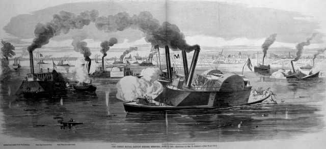 The great naval Battle of Memphis, June 6, 1862