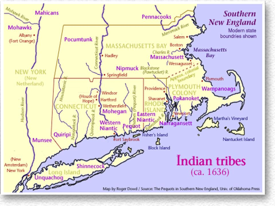 Native Americans And Massachusetts Bay Colony History Of - Where is massachusetts