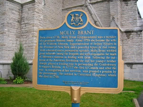 Molly Brant Plaque, Kingston Ontario