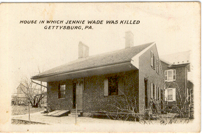the home of Mary McAllister at the time of the Battle of Gettysburg
