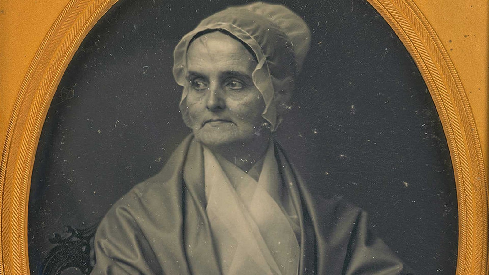 portrait of American abolitionist and women's rights activist Lucretia Mott