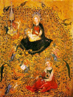 The Virgin and Child in the hortus conclusus by Stefano da Verona c1410