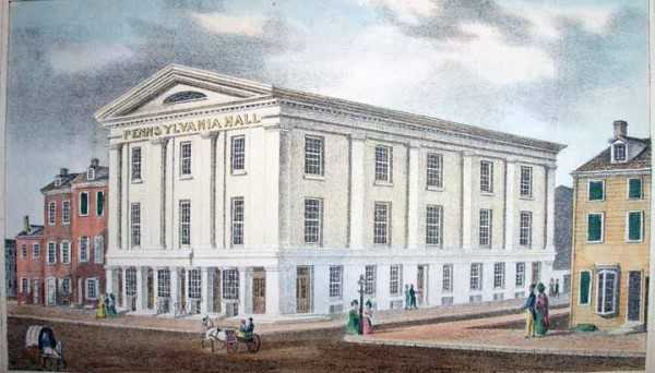Pennsylvania Hall in Philadelphia 1838