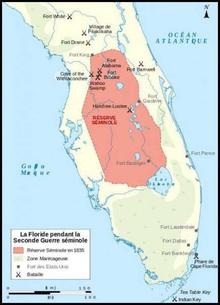 Seminole territory, Florida