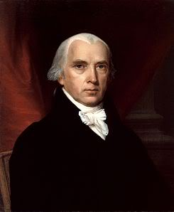 portrait of James Madison, Father of the U.S. Constitution