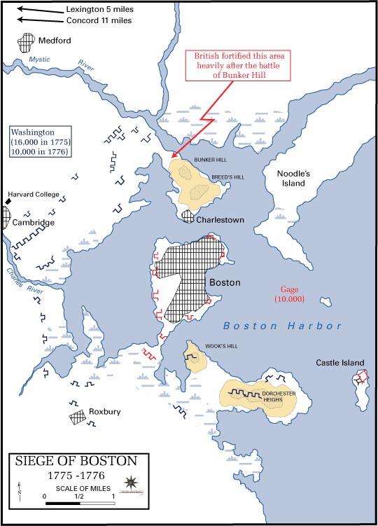 Boston Harbor plan map