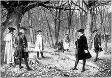depiction of the duel between Aaron Burr and Alexander Hamilton in which Hamilton was killed