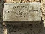 grave of Mary Jameson Sumter, wife of Revolutionary War general