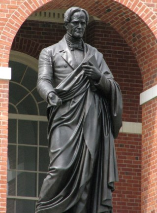 bronze statue of educator Horace Mann