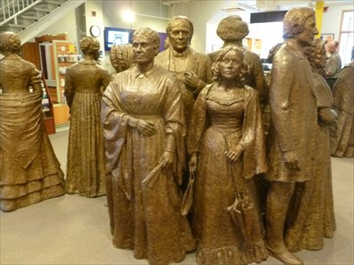 statue of Jane Hunt, and other organizers of the Seneca Falls Convention